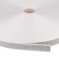 enobi Rollladengurt aus Baumwolle, 22 x 2,2 mm, 50 Meter Rolle, grau-beige (Wendegurt)