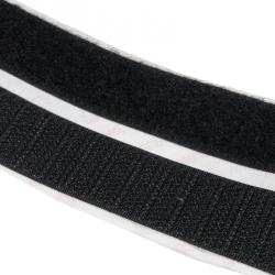Klettband Stick & Sew, Haken selbstklebend und Flausch zum aufnähen, 20 mm Breite, schwarz