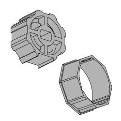 Vestamatic Adapterset 50-8 für Achtkantwelle 50 mm (SW 50) ; für Vestamatic Rohrmotoren Baureihe VL-45