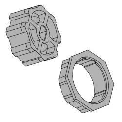 Vestamatic Adapterset 60-8 für Achtkantwelle 60 mm (SW 60) ; für Vestamatic Rohrmotoren Baureihe VL-45
