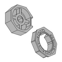 Vestamatic Adapterset 70-8 für Achtkantwelle 70 mm (SW 70) ; für Vestamatic Rohrmotoren Baureihe VL-45