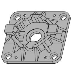 - Universal-Motorlager WL-Click / 35-70 für Vestamatic Rohrmotor Vestaline VL-35 (Mini)