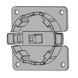 Vestamatic Motorlager Blendkasten Click 80 x 80 WL-Click / 45-80 (max. 20 Nm) ; für Vestamatic Rohrmotoren Vestaline VL-45