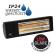 Burda Heizstrahler SMART 2000 IP24 spritzwassergeschützt Low Glare, 2000 Watt, schwarz