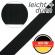Stahl Leichtes und dünnes Gurtband A 601/01/24,5 aus Polyester, Breite 24,5 mm, Meterware, Farbe schwarz